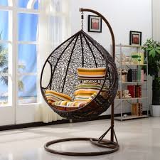 outdoor wicker swing with stand designs