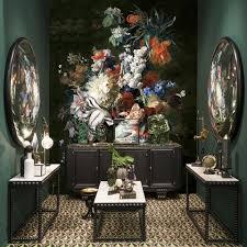 Flemish Interior Design Classic Wallpaper Vinyl Floral Customizable Flemish