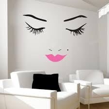 beautiful face wall decal