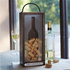 wine silhouette cork box