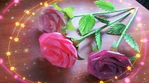diy handmade cute flowers how to emble a paper rose with a stem leaves a calyx you