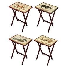 Decorative Tv Tray Tables Folding TV Trays You'll Love Wayfair 6