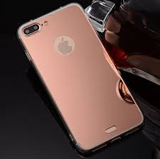 mirror iphone 7 plus case. iphone7 plus specular mirror case, soft tpu shiny reflective make-up cover, iphone 7 case amazon.com