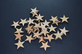 details about 50 qty small 1 inch wood stars craft supply flag wooden stars diy 1 x 1 x 1 4