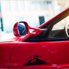 Car sticker <b>funny 3D big</b> eyes peek at monster sticker for Skoda ...