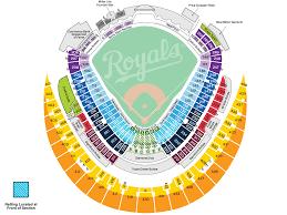 kauffman stadium seating map  mlbcom