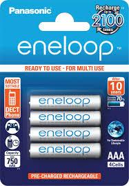 "<b>Аккумулятор Panasonic</b> ""Eneloop"", тип <b>AAA</b>, 750 mAh, 4 шт ..."