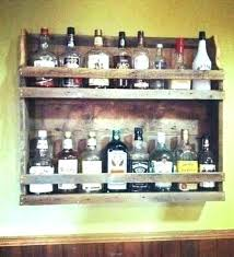 pallet liquor rack. Liquor Bottle Shelves Display Cabinet Frame Pallet Rack Wood O
