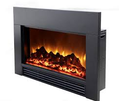image of electric fireplace insert and surround