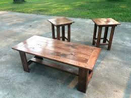 rustic coffee and end table sets nice rustic oak coffee tables red table set throughout prepare
