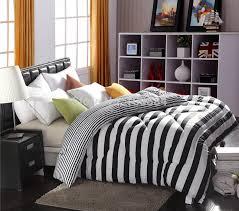 black grey striped bedding design ideas