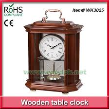product name 17 6x24 5cm wood vintage clock wooden anniversary table clock