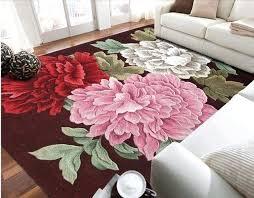 wool floor rugs fl wool large size carpets for parlor living room bedroom classical rose mat wool floor rugs