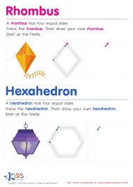 Drawing Rhombus Worksheet. Worksheets. Tataiza Free printable ...