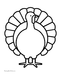 Printable Turkey Coloring Sheets Free Printable Turkey Coloring