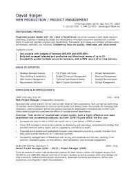 Project Manager Resume Sample Pdf Valid Sample Production Manager