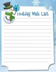 Cute Christmas List Template Barca Fontanacountryinn Com