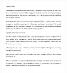 Cover Letter Template Digital Marketing Marketing Cover