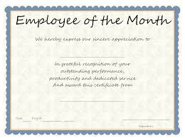 Printable Employee Of The Month Certificates Printable Employee Of The Month Certificates Ase Certificate