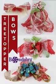 amazing diy treetopper bows