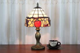 Table Lamps For Bedroom Tiffany Style Fruit Mosaic Table Lamps For Bedroom Parrotuncle