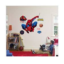 spiderman swinging life size wall decal with free extras