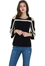 OMZIN <b>Women's Chiffon Blouse Elegant</b> Lace T-Shirt Casual Top ...