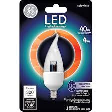 ge 4 5 watt 40 watt equivalent clear bent tip decorative led 1 pack com