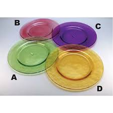 colored glass dinner plates for