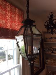 20th century english brass hanging lantern 20th century english brass hanging lantern etched glass hanging candle light
