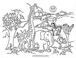 Zoo Coloring Pages Kindergarten Colouring Printable Suzy Animals