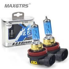 2x 12v 100w 9005 hb3 headlight hod xtreme lamp xenon 5000k dark blue glass replacement car