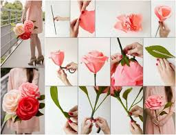 Making Flower Using Crepe Paper Diy Giant Crepe Paper Rose Video