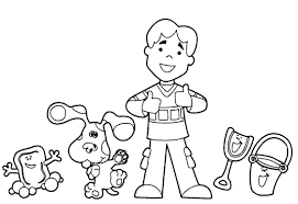 Small Picture Best Blues Clues Coloring Pages 54 About Remodel Line Drawings