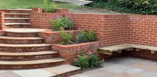 front and back garden on a steep slope