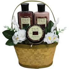dipped in chocolate truffle spa bath and body gift basket set