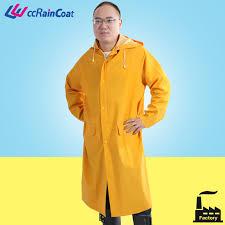 Yellow rubber raincoat fetish