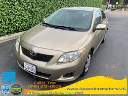 used 2010 toyota corolla in garden grove california sdline motors garden grove