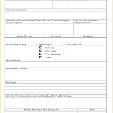 Incident Report Template Microsoft Word Cool To Construction Incident Report Template Osha Form Safety Pingfinco