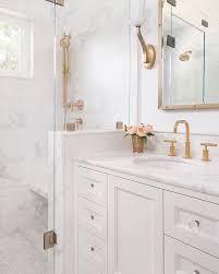 A white bathroom creates the perfect palate for fixtures to really ...