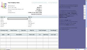 Invoice Template Excel 2003 Commercial Invoice Template 1 10 Download
