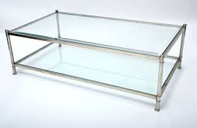 chrome and glass coffee table set rectangle top