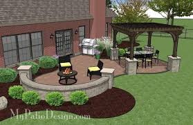 paver patio with pergola. Concrete Paver Patio Design With Pergola 3 MyPatioDesign.com