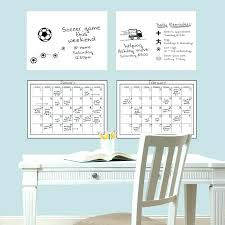 dry erase wall decal 4 piece calendar whiteboard set decals canada days of the week pl
