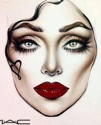 drawing of a with makeup 120 best f a c e c h a r t s images beauty makeup mac face charts