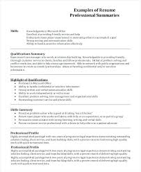 How To Write A Profile Resume Profile Section What To Write Profiles Examples For Resumes