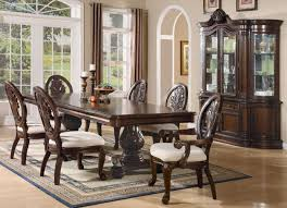 amazon tabitha formal pedestal dining room set 8 piece cherry buffet table chair sets