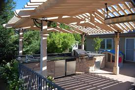 outdoor kitchen designs with pergolas. outdoor kitchen with wood pergola design ideas designs pergolas t