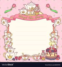 Tea Party Invitations Free Template 012 Royal Tea Party Template Vector Ideas Invitations