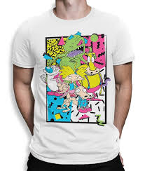 Nickelodeon Size Chart Old School Nickelodeon Cartoons T Shirt Mens Womens All Sizes Tee